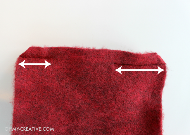 Red wool fabric for making Wool Heart Fingerless Gloves - Perfect for Valentine's Day | OHMY-CREATIVE.COM
