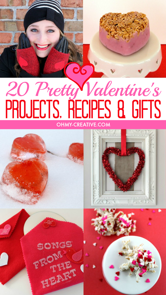 20 Pretty Valentine's Projects, Recipes & Gifts including card ideas | OHMY-CREATIVE.COM
