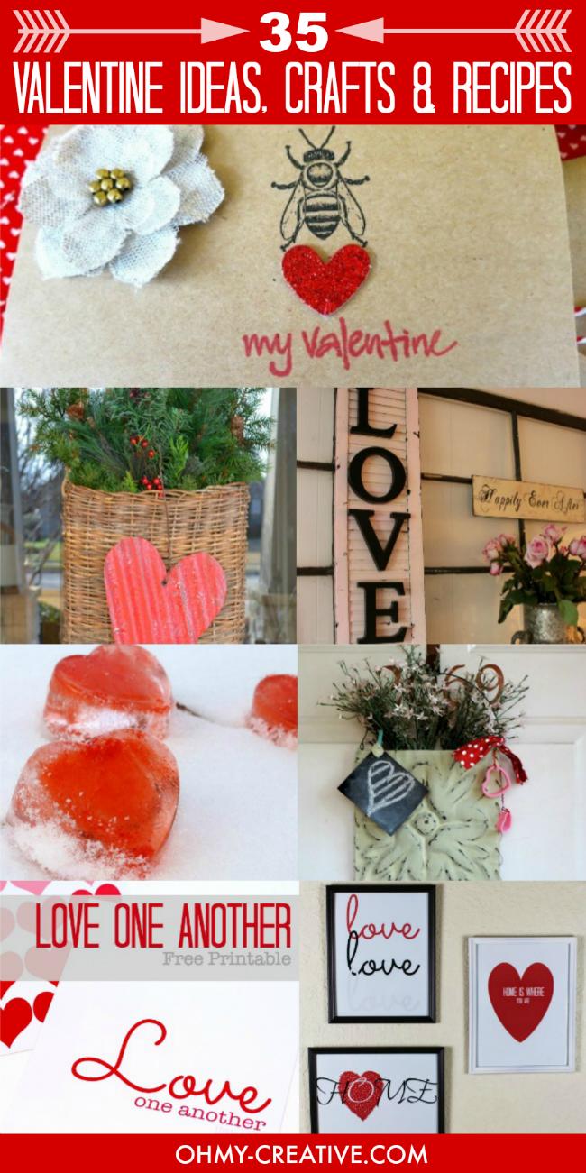35 Valentine Inspiration Ideas, Crafts and Recipes | OHMY-CREATIVE.COM
