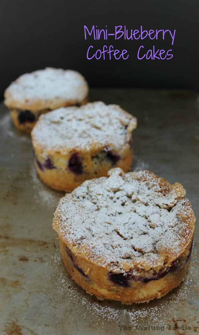 Mini Blueberry Coffee Cakes|The Crafting Foodie