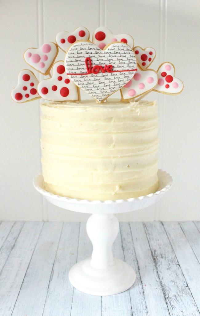 Valentine's Day Love Cookie Cake