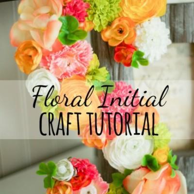 Easy DIY Floral Initial