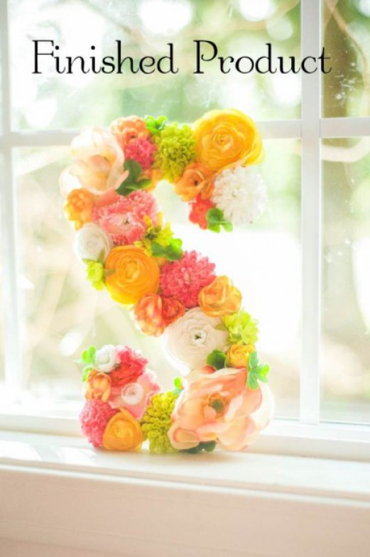 Create a Floral Initial Letter Decor Accent for the home!