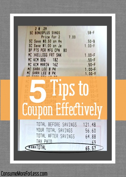 5 Tips to Coupon Effectively