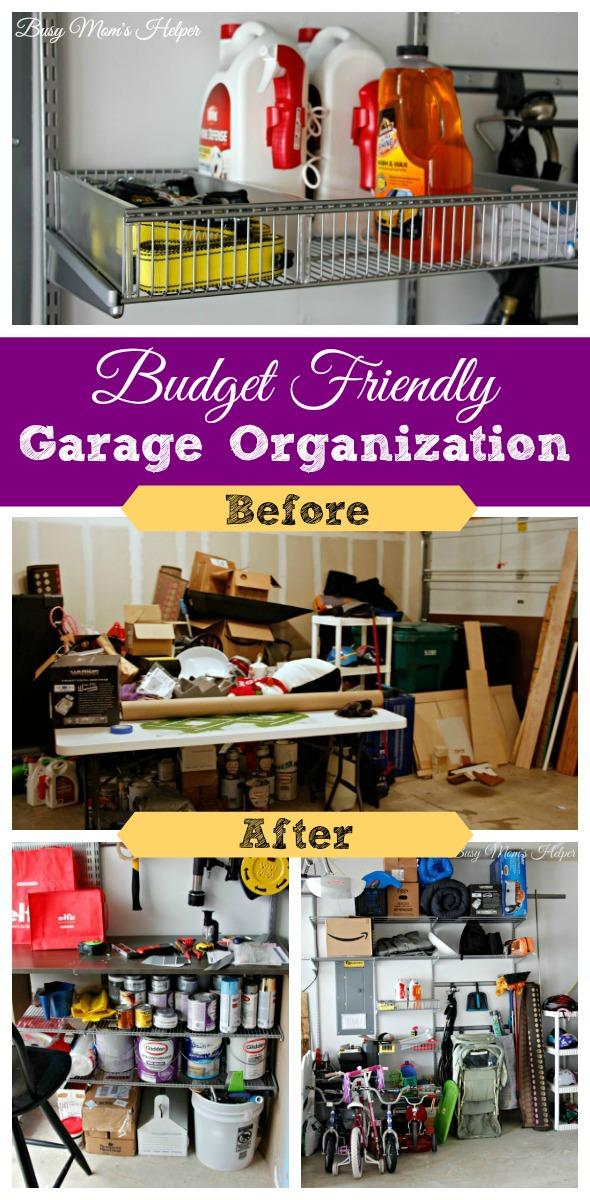 Budget Friendly Garage Organization