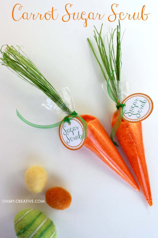 Carrot Sugar Scrub And Free Printable Tag - Oh My Creative