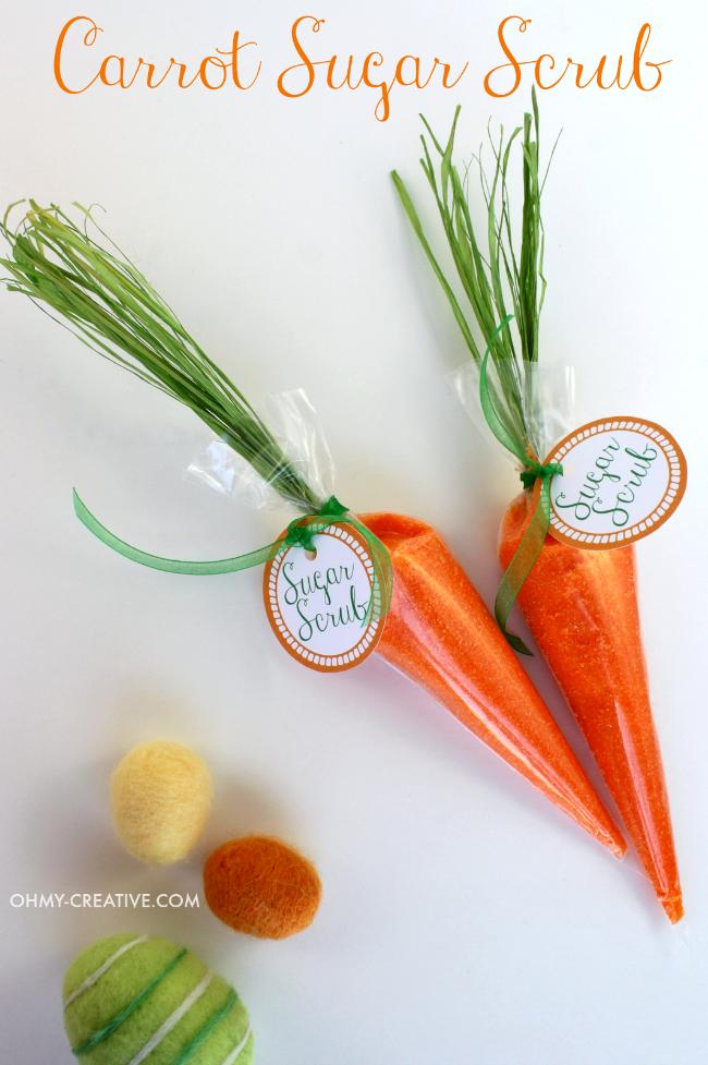 Carrot Sugar Scrub And Free Printable Tag