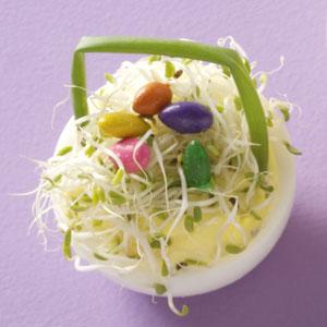 Easter Basket Deviled Eggs