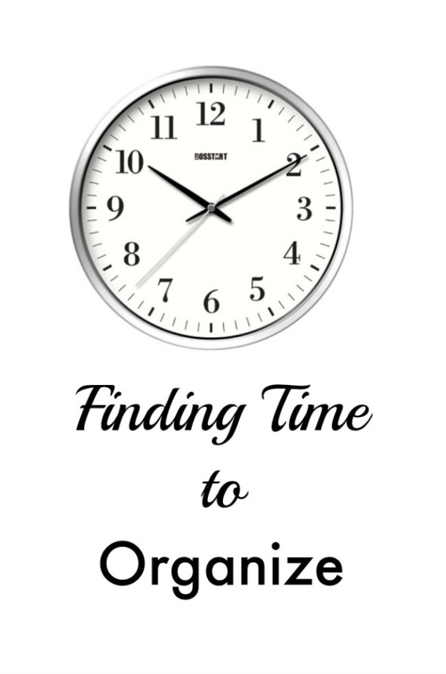 Finding time to organize home