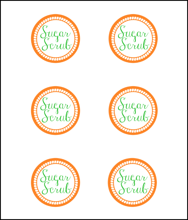 Gratifying image within printable sugar scrub labels