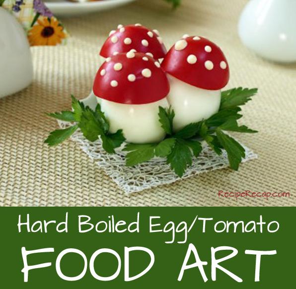 Hard Boiled Egg Mushrooms