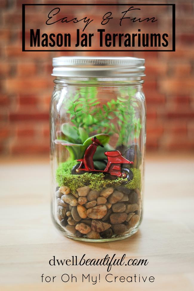 Easy Mason Jar Terrariums
