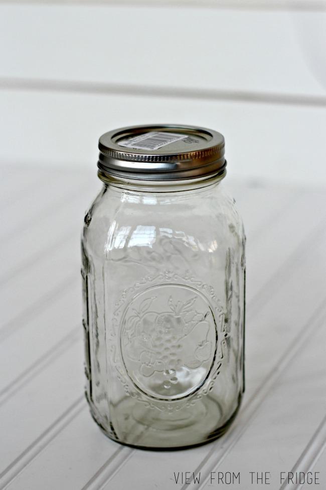 Preppy Distressed Mason Jar Vase | Oh My! Creative