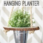 DIY Wood Slice Hanging Planter