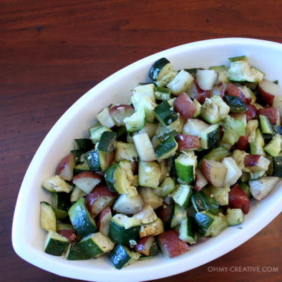 Roasted Zucchini and Potatoes