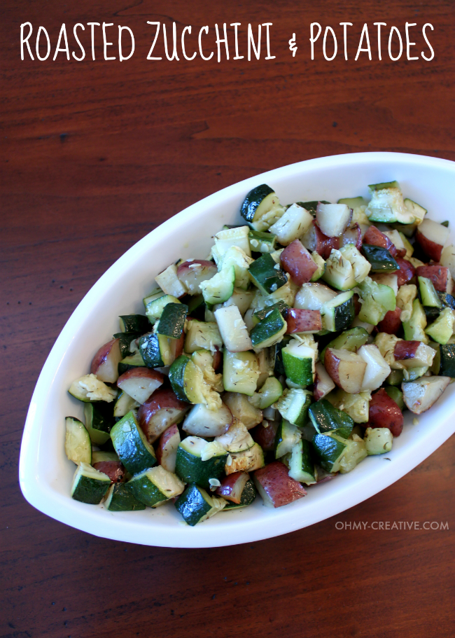 """This is one of my favorite """"go to"""" recipes. Not only is this Roasted Zucchini and Potatoes Side Dish easy to make it is also delicious and compliments any main course! 