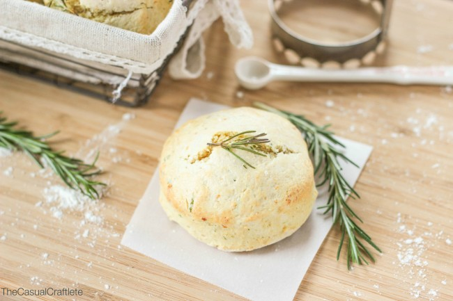 The dough for these Rosemary and Parmesan Biscuits is easy to make and ...