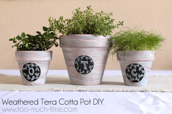 Weathered Terra Cotta Pots from Too Much Time on My Hands