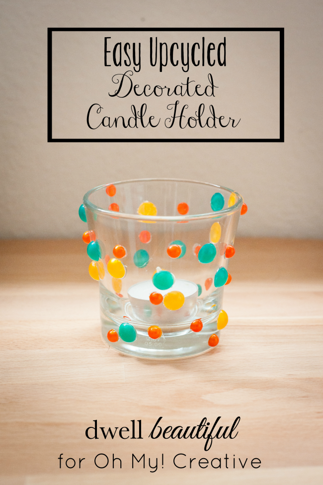 I love to create fresh home decor projects for spring! These Easy Decorated Candle Holders couldn't be more perfect to accent the home | OHMY-CREATIVE.COM
