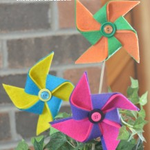 Easy to make DIY no sew Felt Pinwheels
