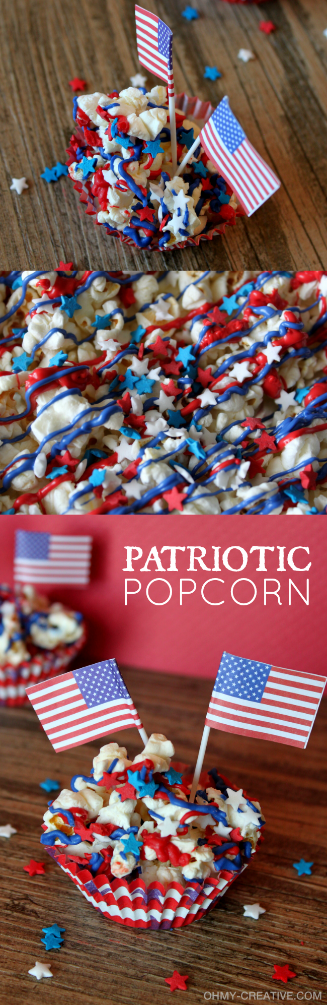 Stars And Stripes Patriotic Popcorn Oh My Creative