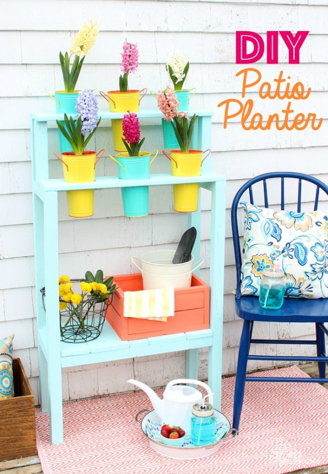 patio flower planter diy
