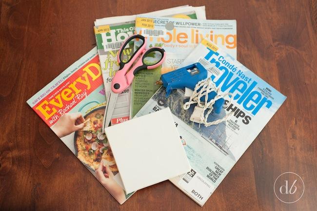 Repurposed old magazines