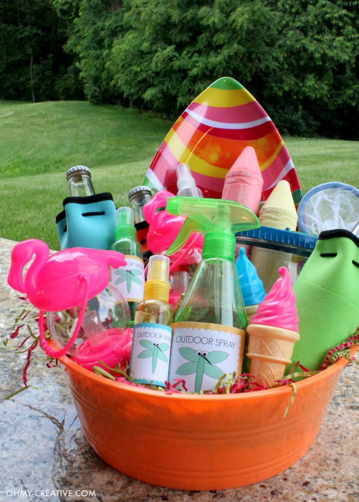 Summer party gift basket oh my creative do you need some ideas on what to bring for a summer hostess gift here negle Choice Image