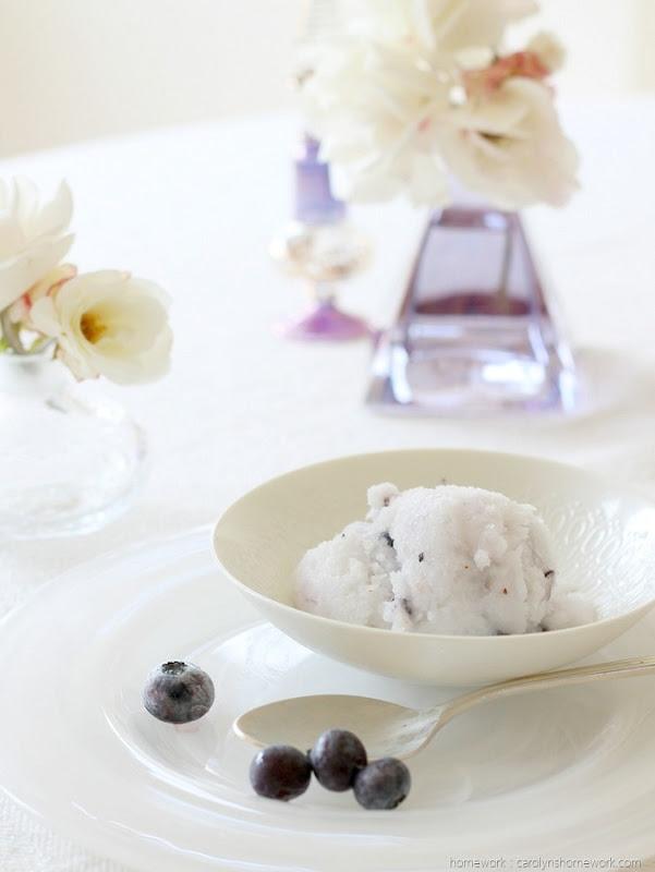 Coconut Blueberry Granita (homework - carolynshomework