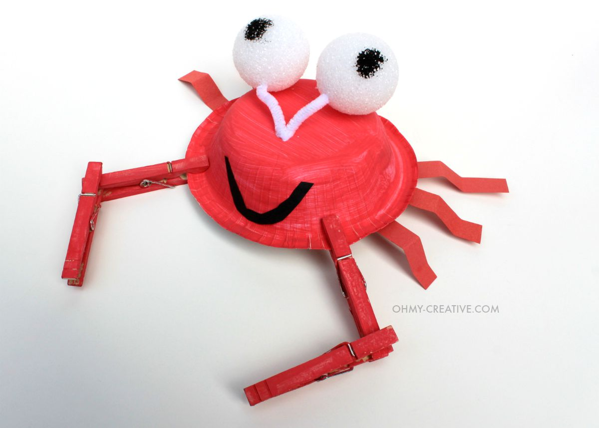 Crab kids craft oh my creative for Crafts for kids com