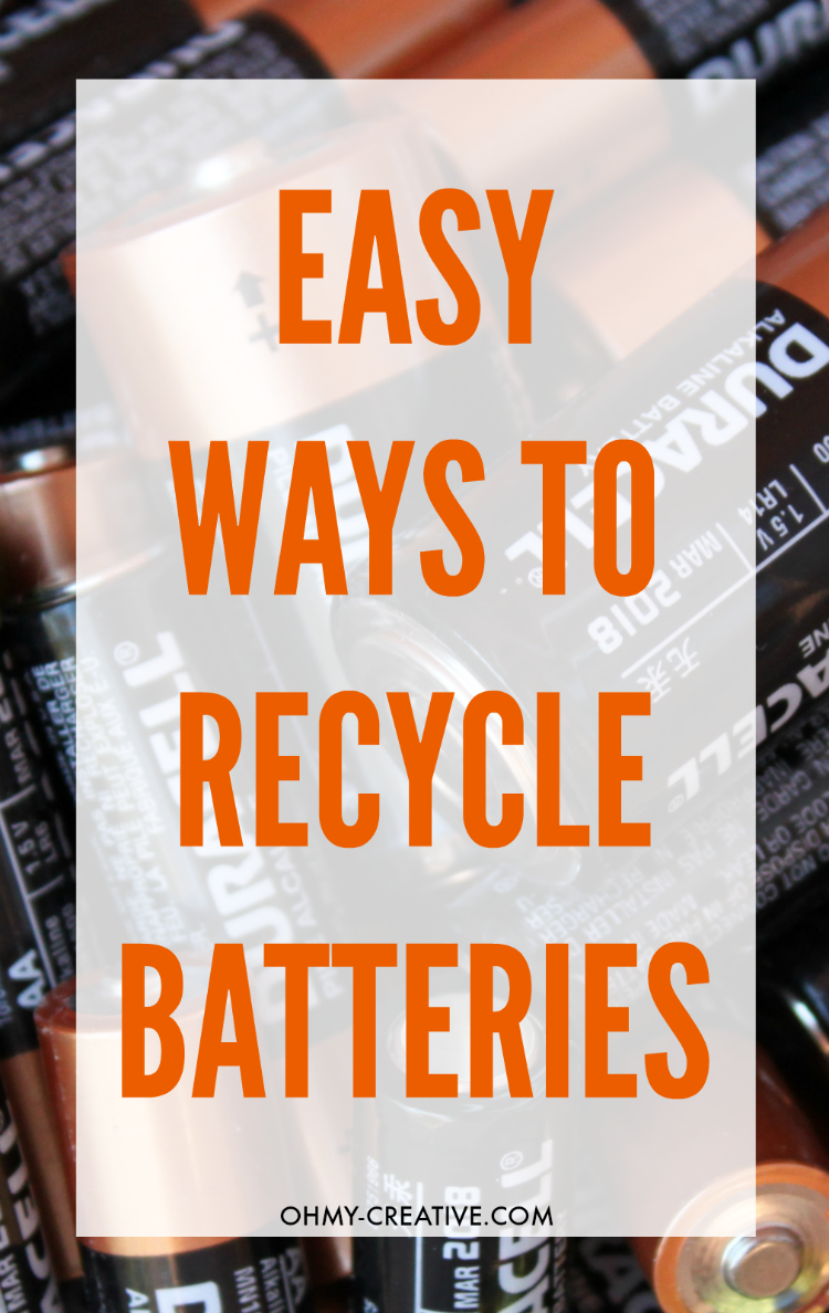 I never really thought about recycling batteries before, but once I did a little researched, I realized its importance and how easy it can be. Here are a few Easy Ways To Recycle Batteries | OHMY-CREATIVE.COM