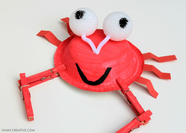 ... easy paper plate crab craft for to celebrate crab craft oh my creative ... & easy paper plate crab craft for to celebrate - easy paper plate crab ...