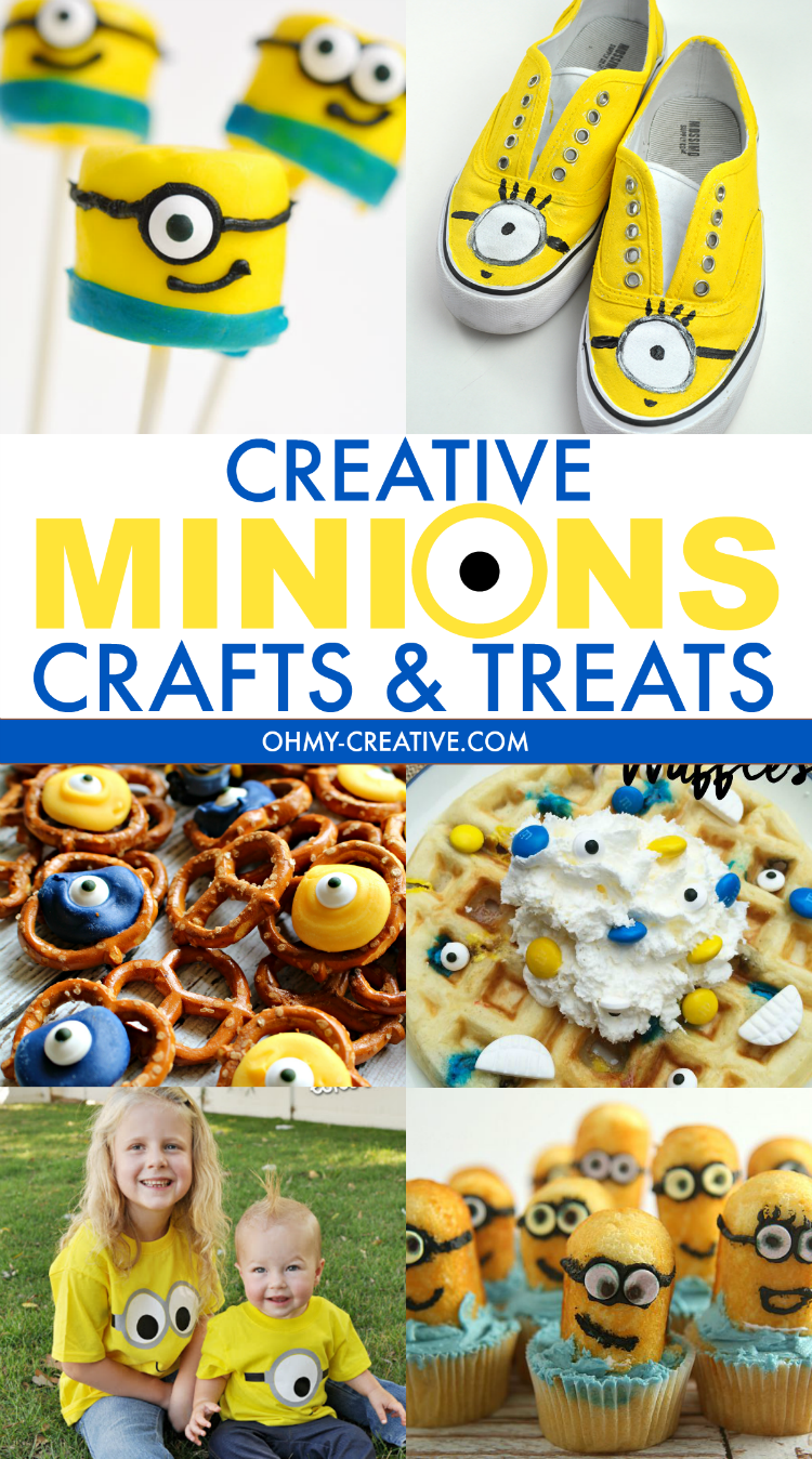 Creative Minions Crafts and Treats are all the rage! And why not - look how cute they are! Perfect for kids of all ages. Great ideas for parties or for the kids to craft…maybe adults too!  OHMY-CREATIVE.COM