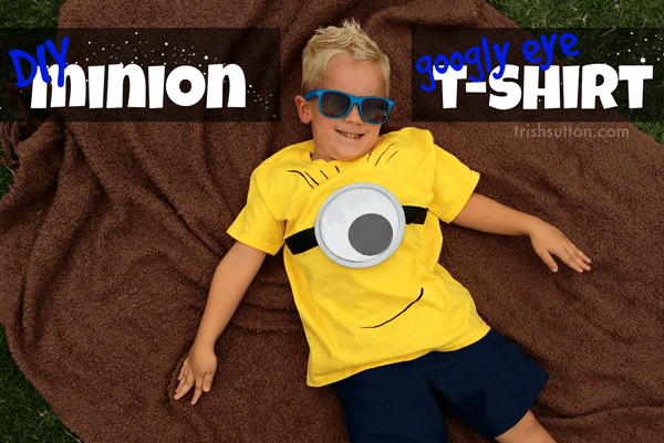 DIY Googly Eye Minion t-shirt