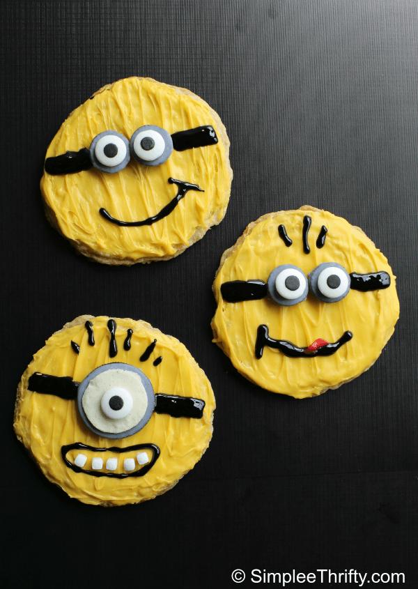 Decorated Minion Sugar Cookies