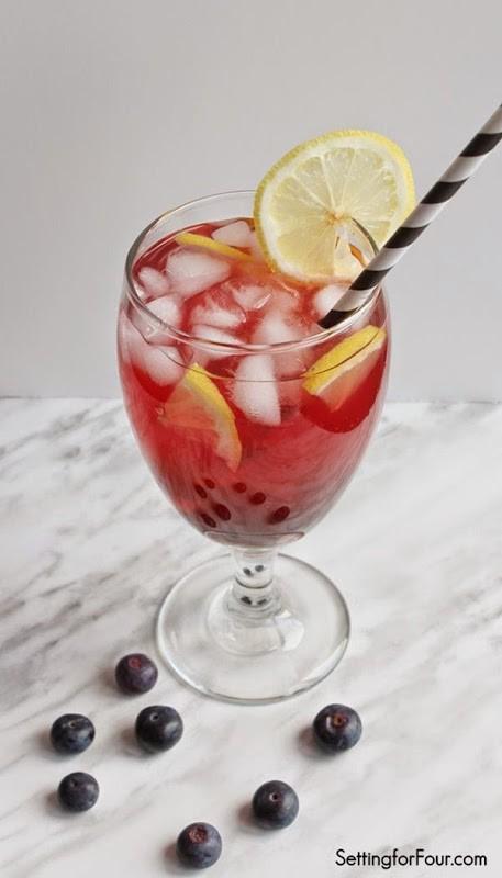 Lemon Blueberry Pomegranate Iced Tea