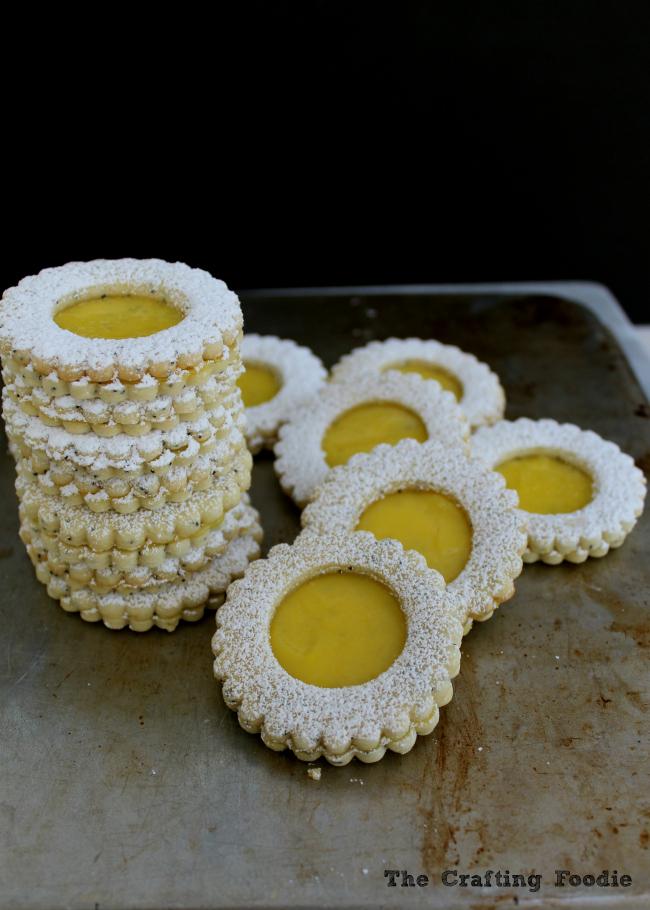 Lemon Poppy Seed Linzer Cookies The Crafting Foodie