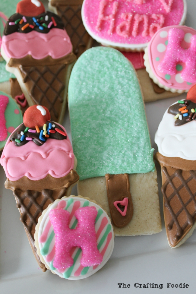 Ice Cream Decorated Sugar Cookies