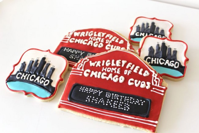 Chicago Themed Decorated Cookies The Crafting Foodie