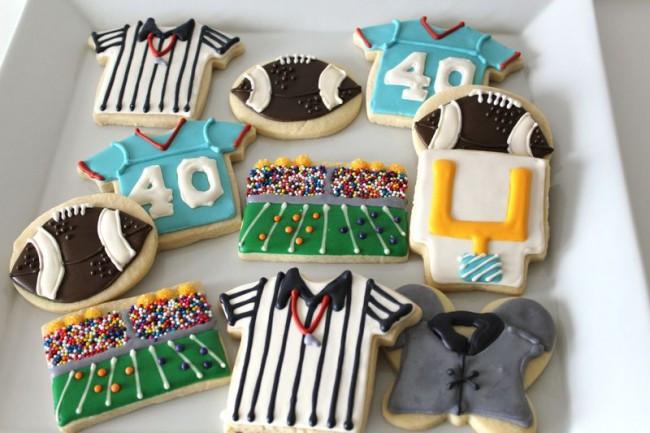 Football Themed Sugar Cookies The Crafting Foodie