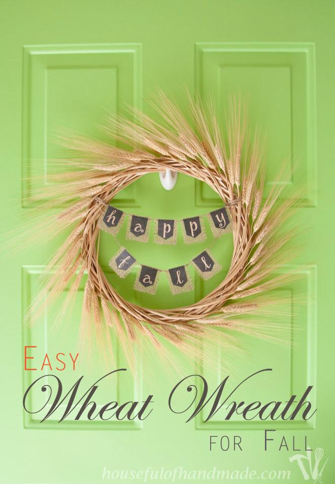 Easy Fall Wheat Wreath