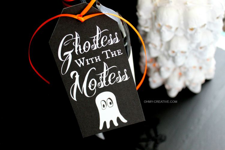 Free halloween printable gift tag oh my creative use this free halloween printable gift tag to attach to a bottle or gift bag for negle Images