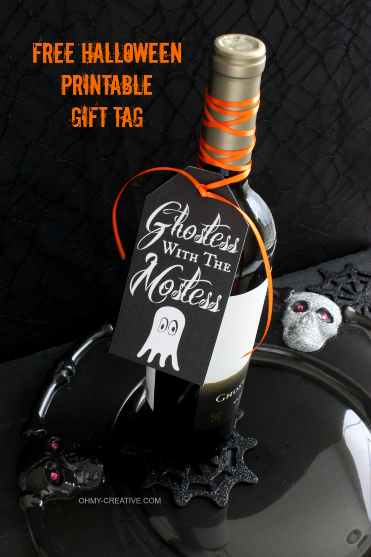 Free Halloween Printable Gift Tag - Oh My Creative