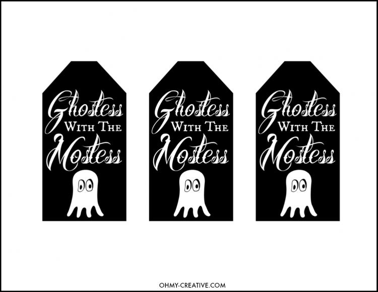 use this free halloween printable gift tag to attach to a bottle or gift bag for - Halloween Gift Tag