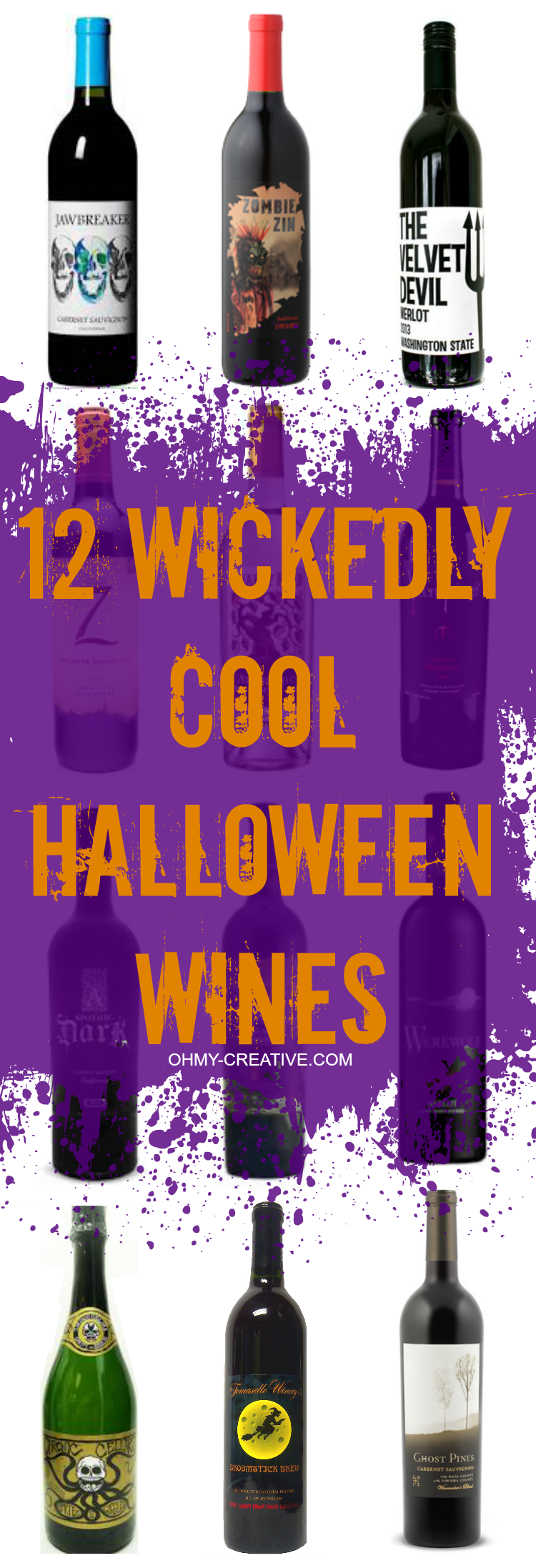 12 Cool Ways To Make A Crayon Wreath: 12 Wickedly Cool Halloween Wines