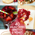 Have you been thinking about the holidays yet…entertaining and what you might serve? Find just what you need with these 40+ Holiday Drinks, Appetizers and Desserts! There are cocktail and mocktail recipes as well as plenty of sweet treats! Pretty and tasty to make the holidays Merry & Bright! OHMY-CREATIVE.COM