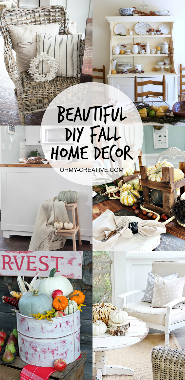 Beautiful Do It Yourself Fall Home Decor - Oh My Creative