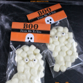 These easy to make Chocolate Marshmallow Ghost Halloween Treats are so cute to hand out to friends, classmates or to use as party favors! Plus there is a FREE Printable Boo From Me To You Bag Topper! | OHMY-CREATIVE.COM