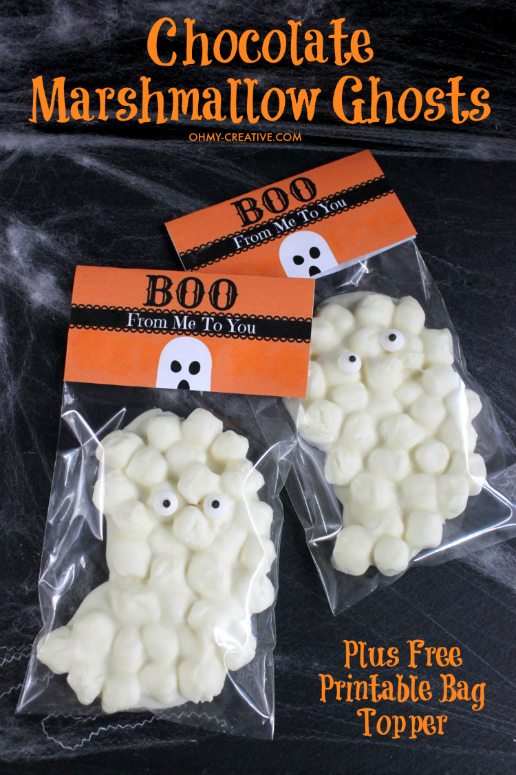 Chocolate Marshmallow Ghost Treats