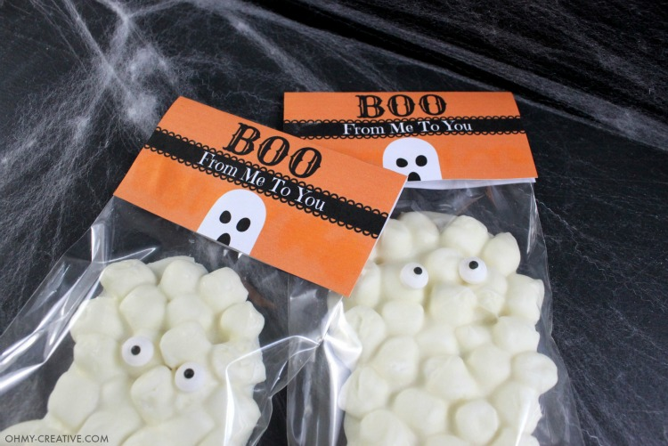 Two Chocolate Marshmallow Ghosts in Treat bags